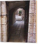Doorway In Old City Jerusalem Wood Print