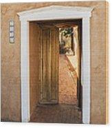 Doorway - Mesilla New Mexico Wood Print