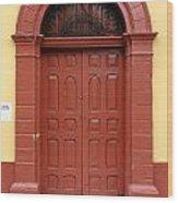 Doorway Of Nicaragua 004 Wood Print