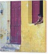 Doorway Of Nicaragua 005 Wood Print