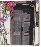 Doorway Oia Santorini Greek Islands Wood Print