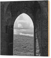 Doorway To Irish Landscape 1 Wood Print