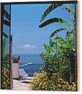 Doorway To Terrace At Hotel Punta Wood Print