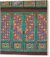 Doorway To The Dharma King Pavilion Wood Print