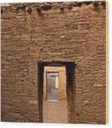 Doorways In Pueblo Bonito Wood Print