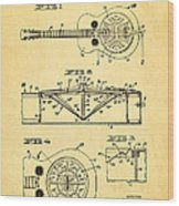 Dopyera Dobro Guitar Patent Art 1933 Wood Print