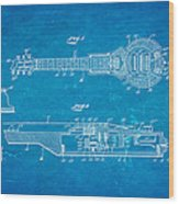 Dopyera Dobro Hawaiian Lap Steel Guitar Patent Art 1939 Blueprint Wood Print