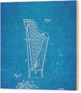 Dopyera Harp Patent Art 1930 Blueprint Wood Print