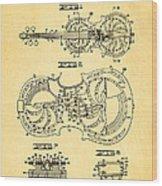 Dopyera Resophonic Violin Patent Art 1939 Wood Print