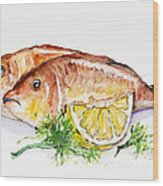 Dorado Fish Wood Print