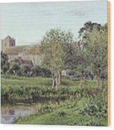 Dorchester Abbey, Near Wallingford, Autumn Evening Wood Print