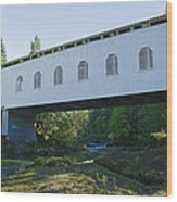 Dorena Covered Bridge 2 Wood Print