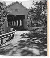 Dorena Covered Bridge Wood Print
