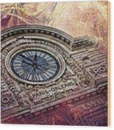 D'orsay Clock Paris Wood Print