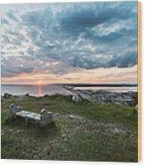 Dorset Chesil Beach Wood Print