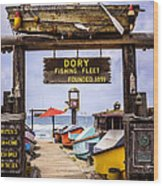 Dory Fishing Fleet Market Newport Beach California Wood Print by Paul Velgos