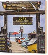 Dory Fishing Fleet Market Newport Beach California Wood Print
