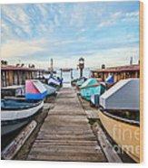 Dory Fishing Fleet Newport Beach California Wood Print by Paul Velgos
