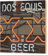 Dos Equis Texxas Beer Wood Print
