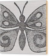 Dotted Butterfly Wood Print