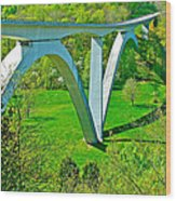 Double-arched Bridge Spanning Birdsong Hollow At Mile 438 Of Natchez Trace Parkway-tennessee Wood Print