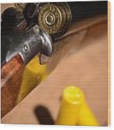 Double Barrel Shotgun Wood Print