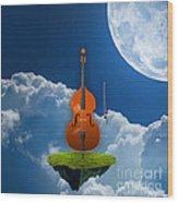 Double Bass Wood Print