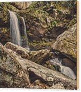 Double Cascade Wood Print