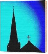 Double Crosses Wood Print