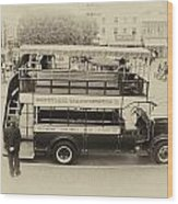 Double Decker Bus Main Street Disneyland Heirloom Wood Print