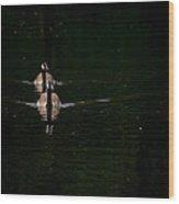Double Goose Wood Print