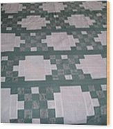 Double Irish Chain Quilt Wood Print