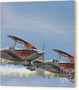 Double Iron Eagles Wood Print