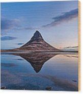 Double Kirkjufell Iceland Wood Print