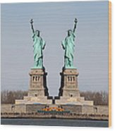 Double Libertys Wood Print