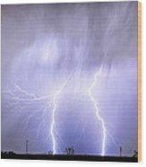 Double Lightning Strike Harmony Wood Print