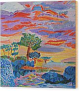 Candy Coated Monterey Sunset Wood Print
