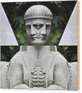 Double Sphinx Wood Print