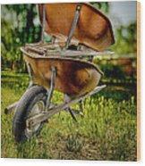 Double Wheelbarrow Wood Print