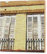 Double Window Work Wood Print