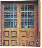 Double Wood Door Iceland Wood Print