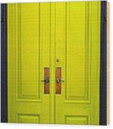 Double Yellow Doors Wood Print