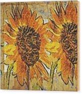 Double Yellowed Wood Print