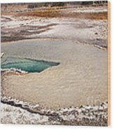 Doublet Pool In Upper Geyser Basin In Yellowstone National Park Wood Print