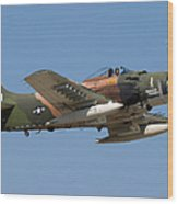 Douglas Ad-4 Skyraider Wood Print