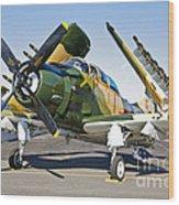 Douglas Ad-5 Skyraider Attack Aircraft Wood Print