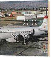 Douglas C-54e Firefighting Airtanker N460wa Wood Print