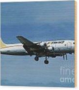 Douglas Dc-6bf  Landing  N95bl Apa Wood Print