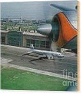 Douglas Dc-7 Taking Off Wood Print by Wernher Krutein