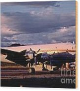 Douglas Dc4 Firefighting Airtanker Wood Print by Wernher Krutein